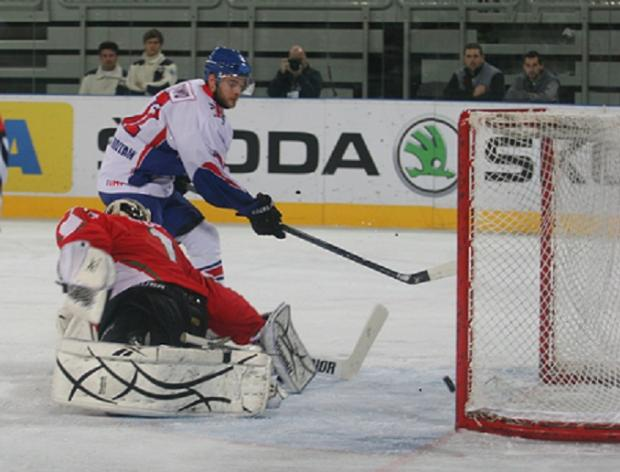 WINNER: Robert Dowd scores the game-winning goal against Hungary. picture by Diane Davey