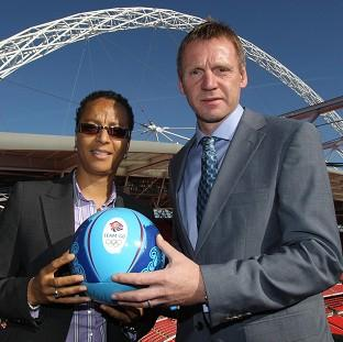 Stuart Pearce and Hope Powell