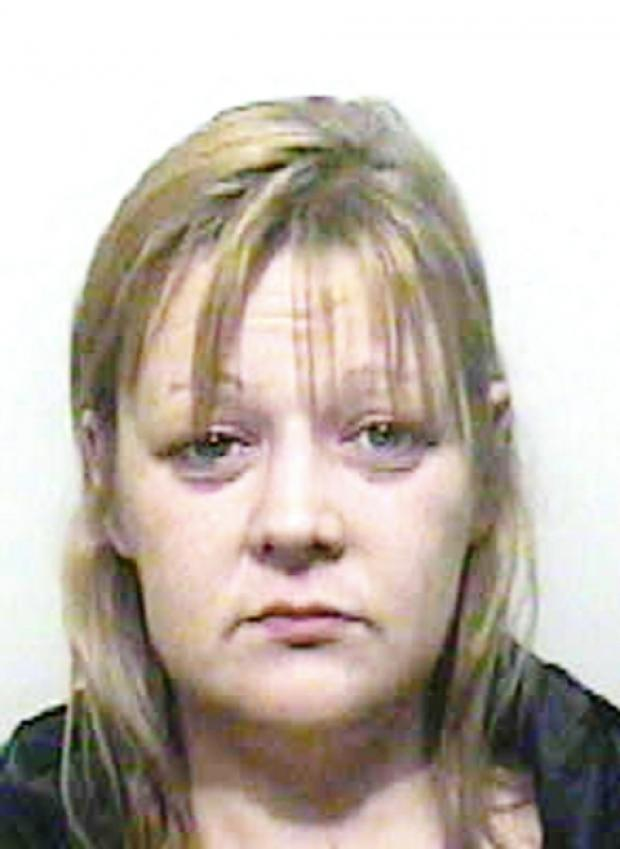 JAILED Donna Sherwin had a knife when she confronted her ex-boyfriend David Rushton