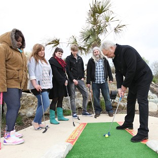 Sir Tom Jones took his Voice team out for a spot of golf