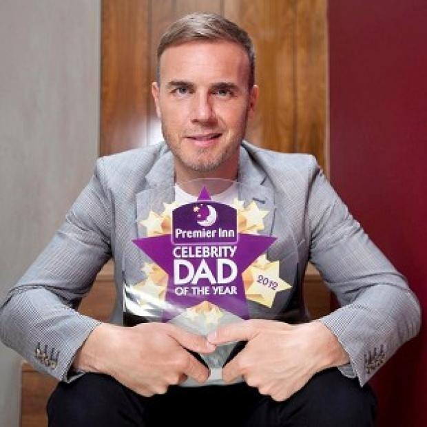 Gary Barlow has been named the Premier Inn Celebrity Dad Of The Year 2012