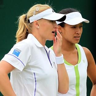 Elena Baltacha (left) and Anne Keothavong handed chance of doubles glory at Games