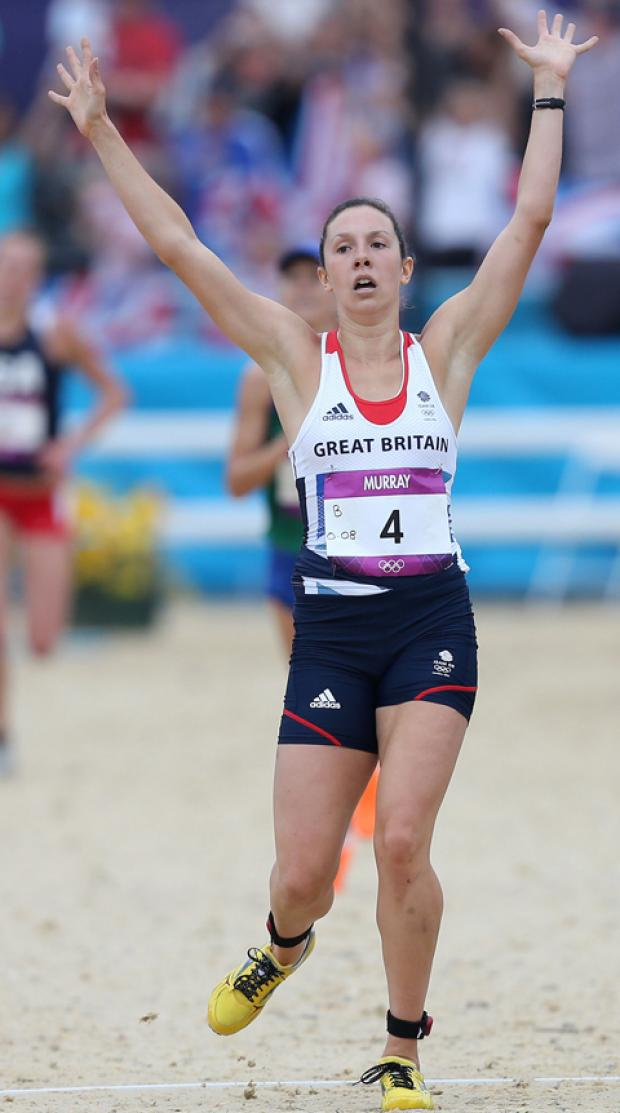 This Is Lancashire: Samantha Murray from Clitheroe secured a silver medal for modern pentathlon