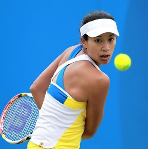 Anne Keothavong lost in the first round of the Texas Open