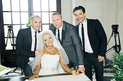 HAPPY EVER AFTER Toni and Andy with dancing queen Louie Spence and his best mate Jack Canuso