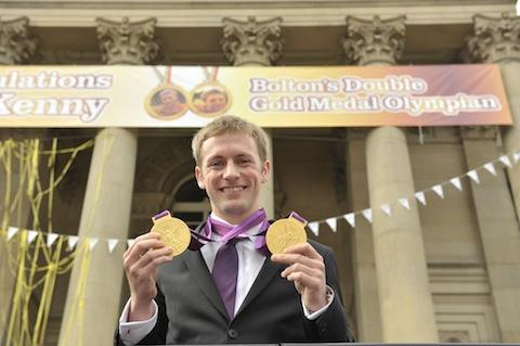 Bolton gives Jason Kenny an Olympic hero's big welcome home