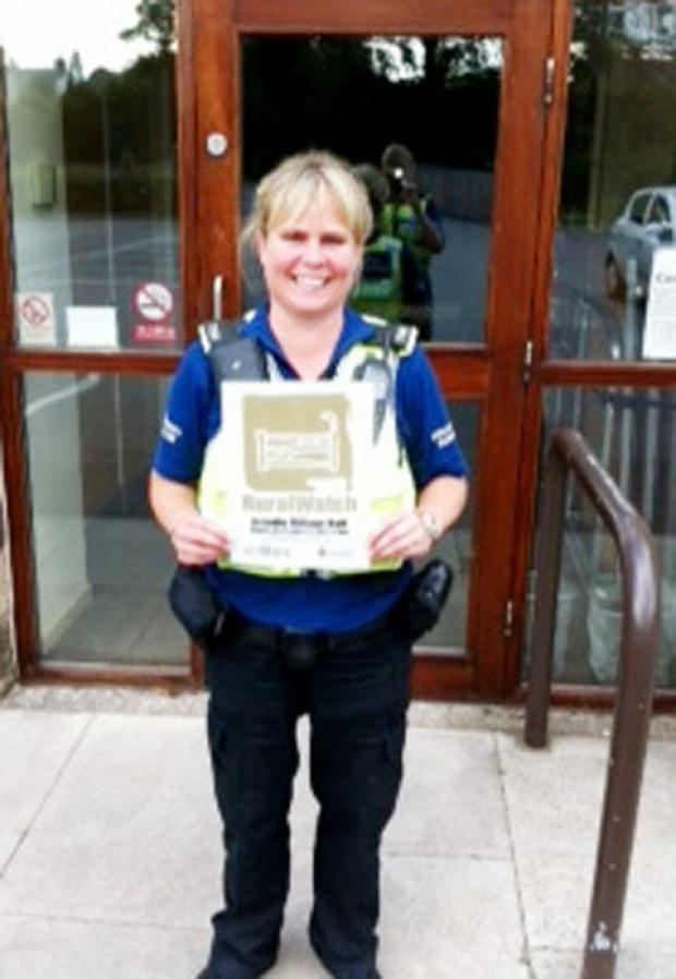 PCSO Michelle Appleton is urging people to sign up