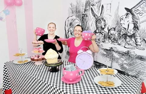 WONDERLAND Holly with Leanne Baker, work experience, and the array of cakes