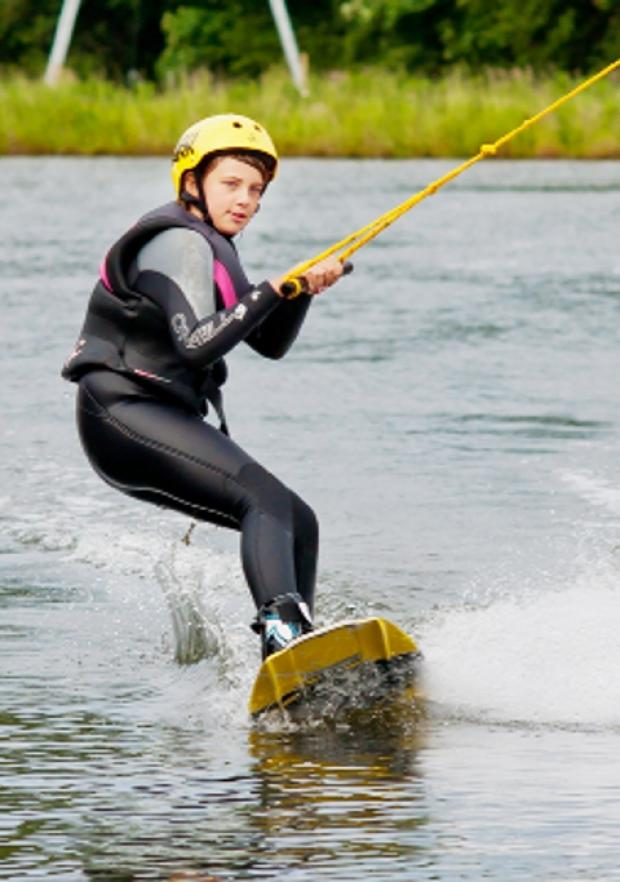 THRILLING Wakeboarding will become a feature in major plans for the Rowley Lake area of Burnley