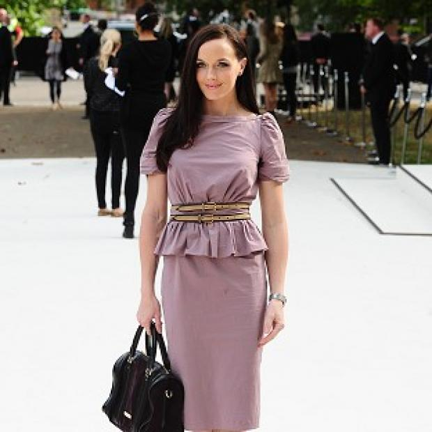 Victoria Pendleton was enjoying herself at London Fashion Week