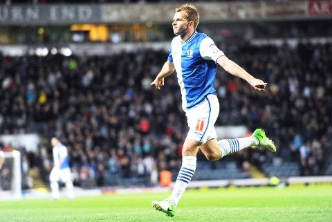 GET IN Jordan Rhodes celebrates his goal last night - but the former Huddersfield man's fee upset Barnsley boss Keith Hill