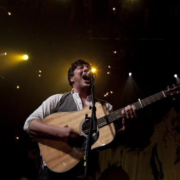 Marcus Mumford of Mumford and Sons performs at the iTunes Festival, at the Roundhouse, in north London