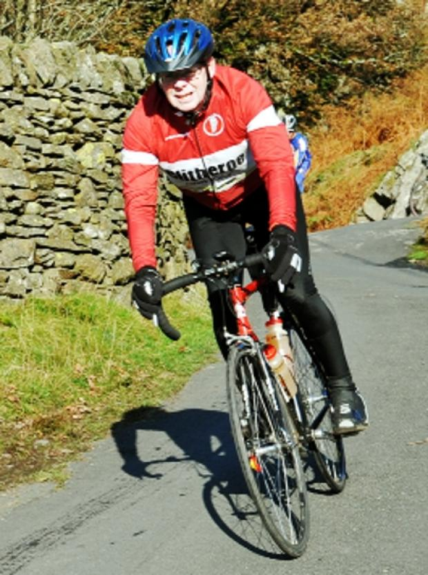 'LOCAL LEGEND' Bill Honeywell who cycles far and wide for charity