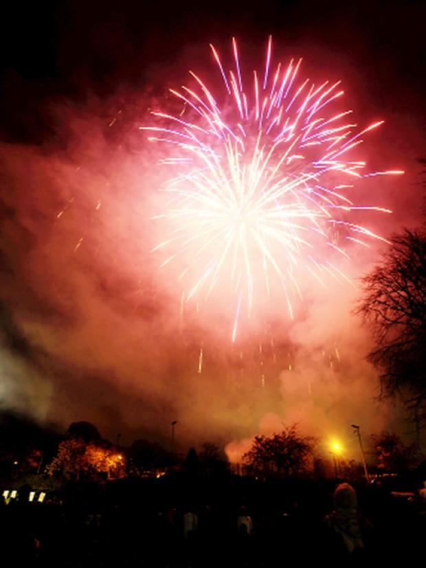 Fireworks at the Clitheroe bonfire