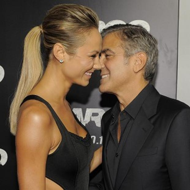 George Clooney and Stacy Keibler looked loved up at the Argo premiere