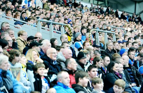 Fans pack into the Blackburn End lower tier for Saturday's clash with Wolves