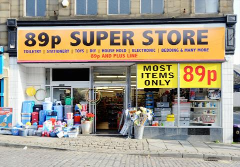 The 89p Super Store in Bank Street