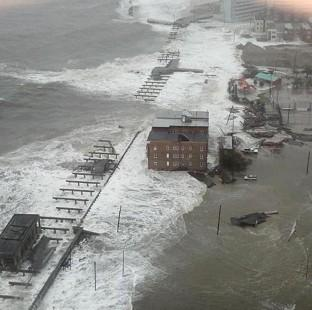 The Inlet section of Atlantic City, New Jersey, as Sandy made its approach (AP/6abc Action News, Dann Cuellar)