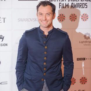 Jude Law was one of the stars at the British Independent Film Awards
