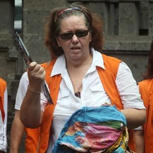 This Is Lancashire: Lindsay Sandiford arrives at a courthouse in Denpasar, Bali island, Indonesia (AP)