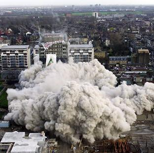 Policy Exchange said high-rise housing blocks should be bulldozed and replaced with terraced homes