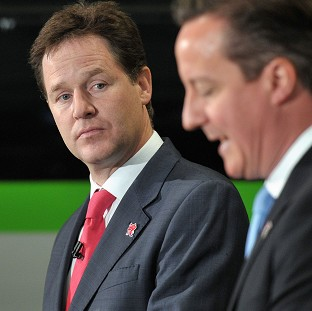 Deputy Prime Minister Nick Clegg (left) says ministers now realise money for infrastructure was needed to foster recovery
