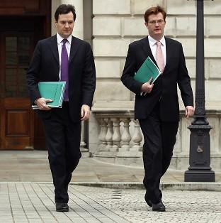 The coalition's finance team, Chancellor George Osborne and Danny Alexander, Chief Secretary to the Treasury