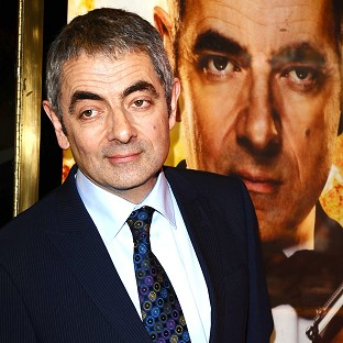 Rowan Atkinson suffered a shoulder injury in the crash
