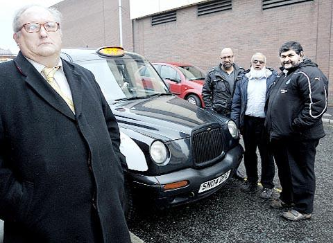 Hackney Drivers' Association Ltd chairman Charles Oakes, left, and drivers
