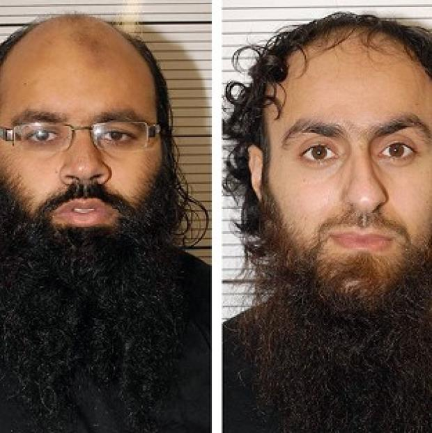 Irfan Naseer, left, and Irfan Khalid have been convicted of being 'central figures' in an extremist plot (West Midlands Police/PA)