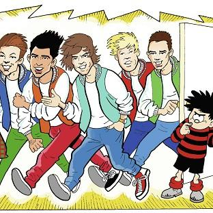 This Is Lancashire: One Direction with Dennis the Menace in The Beano Red Nose Day special