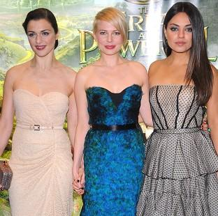 Rachel Weisz, Michelle Williams and Mila Kunis sparkled at the European premiere of Oz The Great And Powerful