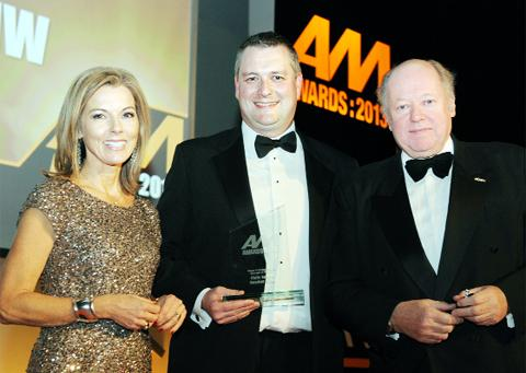 ITV's Mary Nightingale, Chris Eccles and Christopher Macgowan, chairman of judges