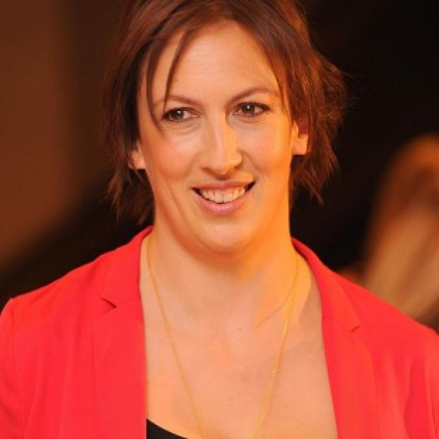 This Is Lancashire: Miranda Hart started her Comic Relief challenge with an ankle injury