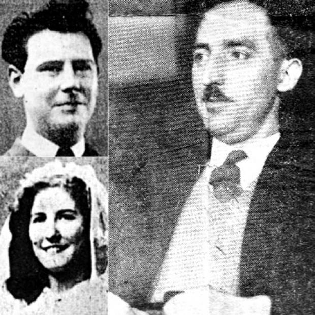 Jack Covill (main picture) and Henry King and estranged wife Sheila