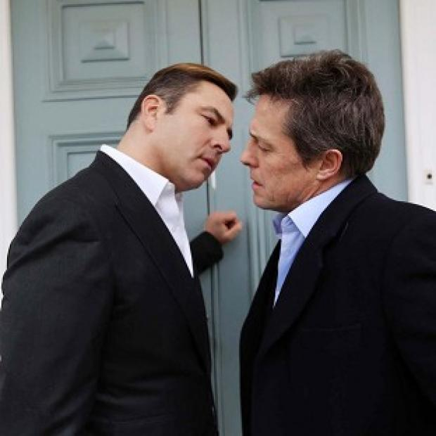 David Walliams shares a special moment with Hollywood heart-throb Hugh Grant, which can be seen on Comic Relief - Funny for Money