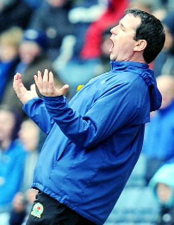 Gary Bowyer on the touchline