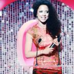 East Lancashire actress Natalie Gumede accepts her award