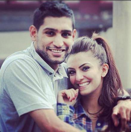 Amir Khan and his wife Faryal