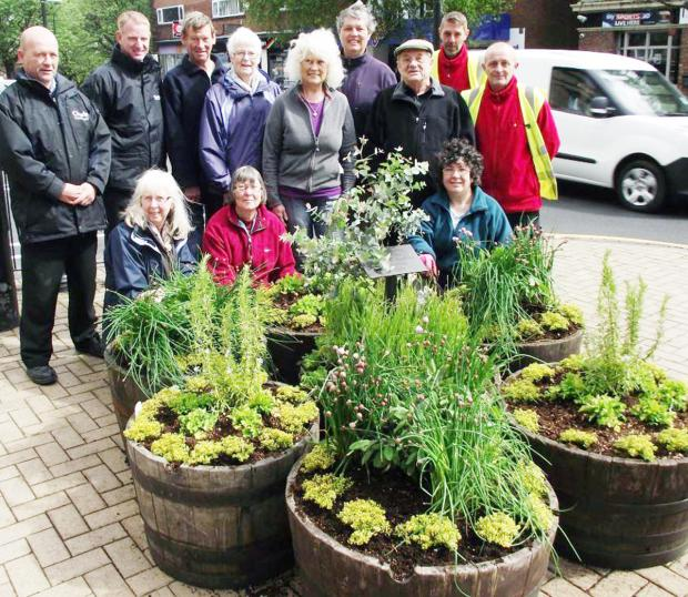 Members of Chorley and District Gardening Society with council officials