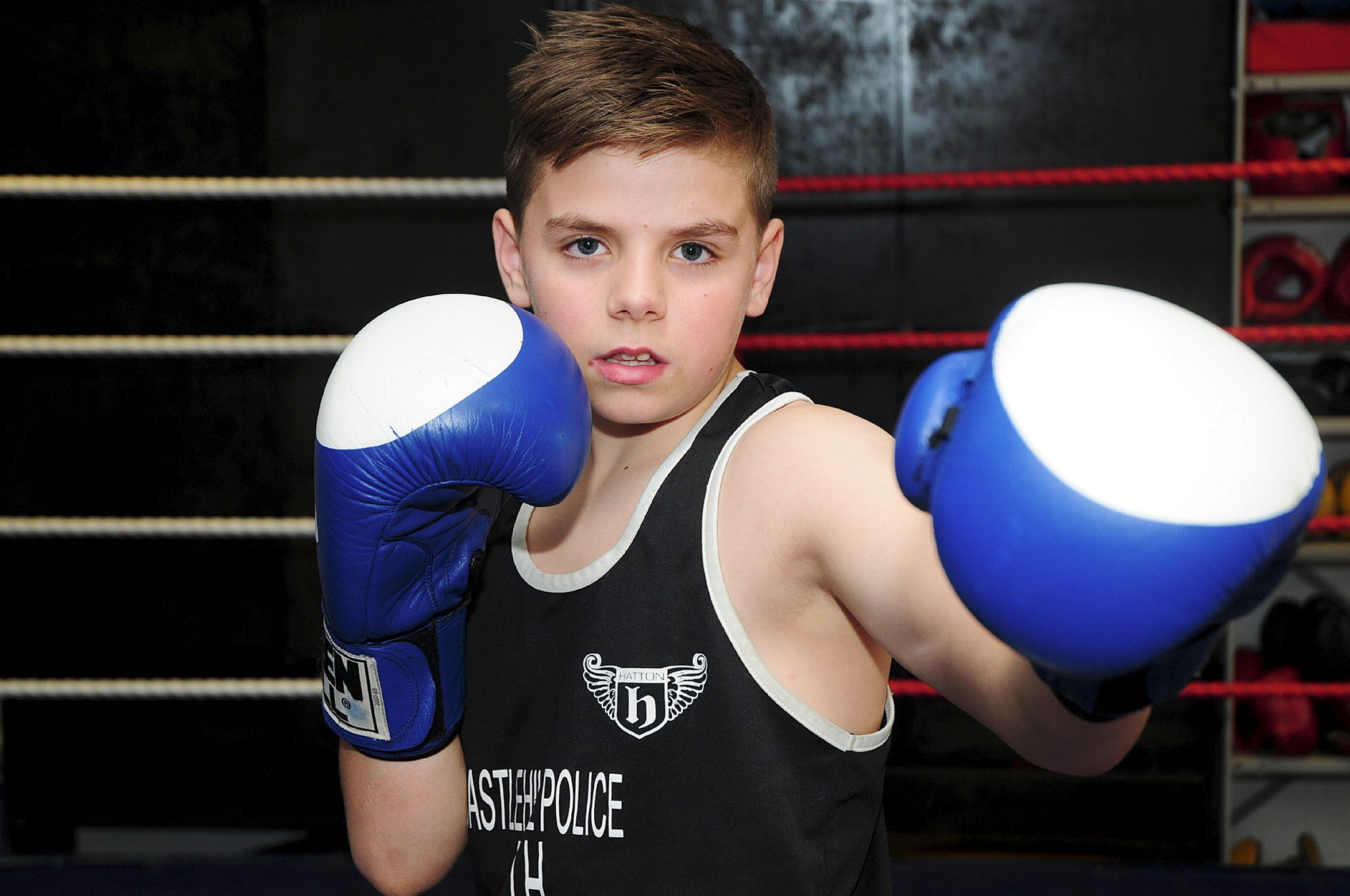GLOVES ARE ON Kieran Cormican, Castle Hill Boxing Club's little Rocky