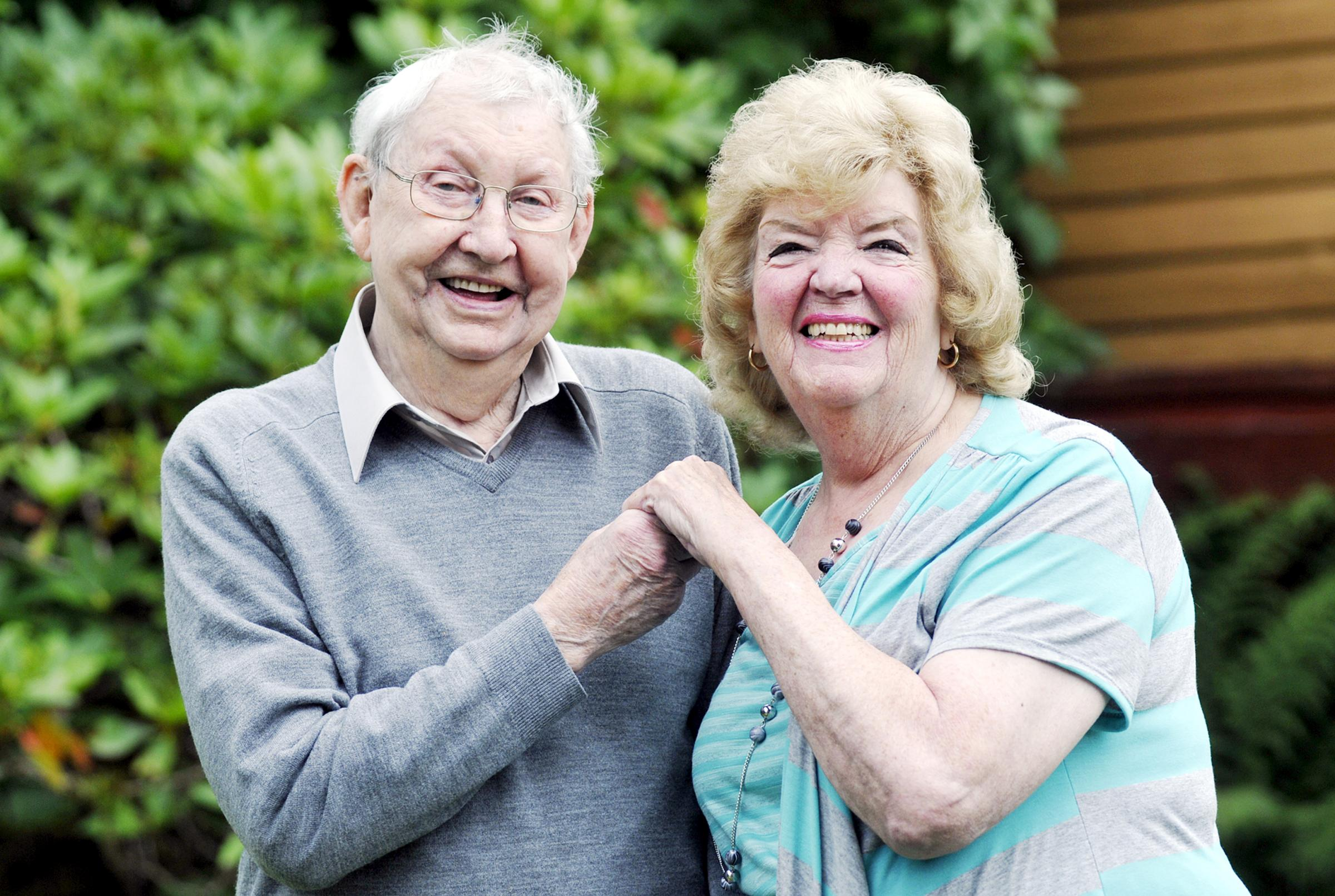 SHARING James and Joan Brooks are celebrating their 60th wedding anniversary