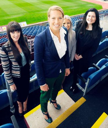 Rachel Brown-Finnis UCFB students, from left, Elena Longshaw, Chloe Simpson and Leah Jakeman