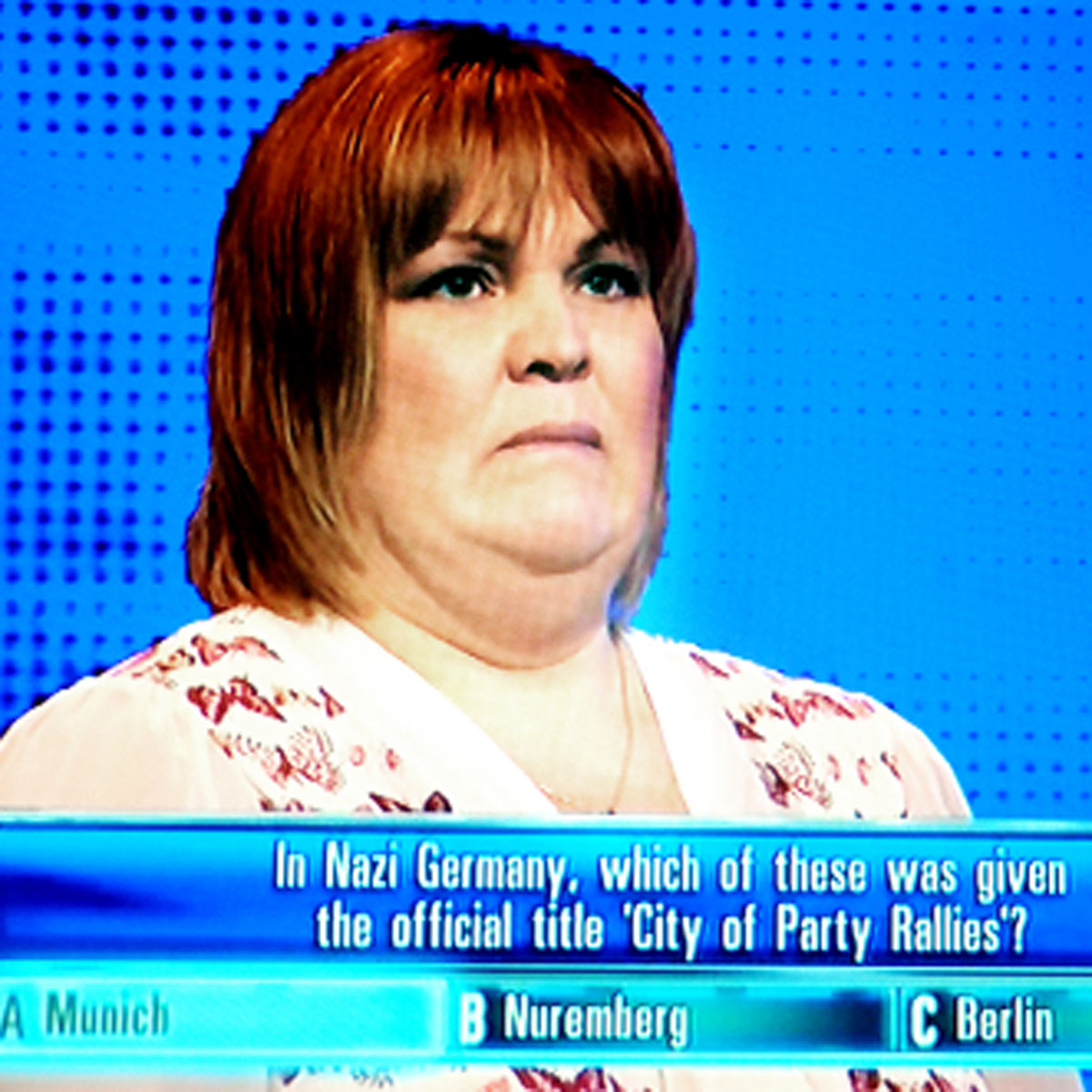 Joanne Nutter took part in TV quiz show The Chase