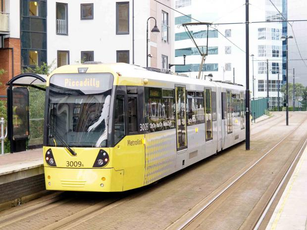 This Is Lancashire: Whitefield man killed by tram in Manchester city centre