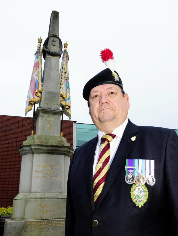 This Is Lancashire: Veteran Fusilier Stephen Taylor