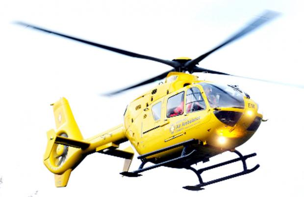 This Is Lancashire: Man airlifted to hospital after suffering heart attack on Accrington roof