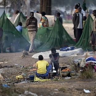 Thousands of families have had to leave their homes due to fighting in South Sudan (AP/Ben Curti