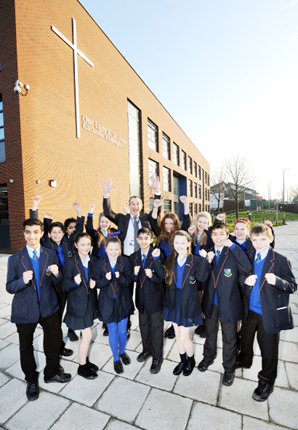 Youngsters at Our Lady and St John Catholic College are celebrating as the doors of the new £10million school open