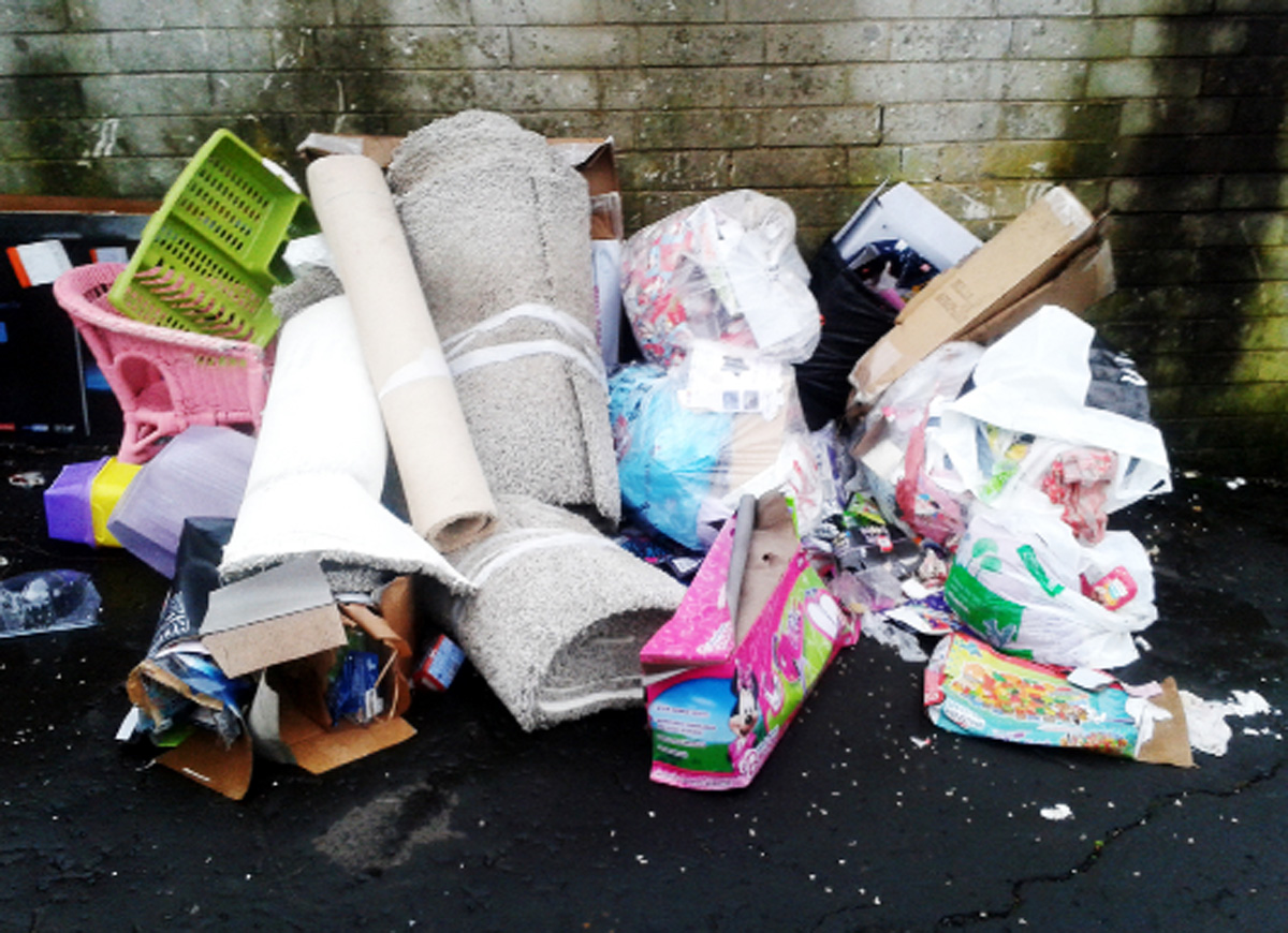 Used needles found in rubbish dumped in Blackburn